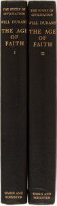Books:Religion & Theology, Will Durant. INSCRIBED. The Age of Faith. New York: Simon and Schuster, 1950. First edition. Inscribed by the auth... (Total: 2 Items)