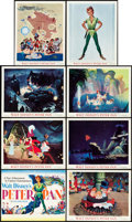 "Movie Posters:Animation, Peter Pan (RKO, 1953). Lobby Card Set of 8 (11"" X 14"").. ...(Total: 8 Items)"