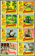 "Movie Posters:Animation, Bambi (RKO, R-1948). Lobby Card Set of 8 (11"" X 14"").. ... (Total:8 Items)"