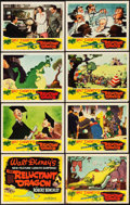 "Movie Posters:Animation, The Reluctant Dragon (RKO, 1941). Lobby Card Set of 8 (11"" X 14"").. ... (Total: 8 Items)"