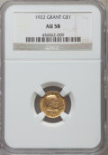 Commemorative Gold, 1922 G$1 Grant No Star AU58 NGC....