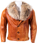 Music Memorabilia:Costumes, Elvis Presley Owned and Worn Leather Jacket (c. 1960s)....