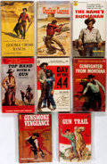 Books:Children's Books, Group of Eight Mass Market Paperback Westerns. Various publishers,[ca. mid-20th century]. Printed wrappers. Some creases to...(Total: 8 Items)