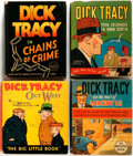 Books:Children's Books, Chester Gould. Group of Four Dick Tracy Big Little Books.Racine: Whitman Publishing, 1933-1936. Small format, 3... (Total: 4Items)