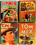 "Books:Children's Books, [Tom Mix]. Group of Four Tom Mix Big Little Books. Racine:Whitman Publishing, 1935-1940. Small format, 3.5"" x 4... (Total: 4Items)"