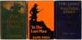 Books:Literature 1900-up, Zane Grey. SIGNED. Three Early First Editions. Includes: TheLight of Western Stars; The Rainbow Trail; To the Last Man....(Total: 3 Items)