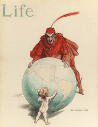 JAMES MONTGOMERY FLAGG (American, 1877-1960) The World: Good versus Evil, LIFE magazine cover, July 23