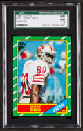 Football Cards:Singles (1970-Now), 1986 Topps Jerry Rice #161 SGC 86 NM+ 7.5....