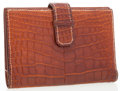 Luxury Accessories:Accessories, Hermes Matte Fauve Alligator Bifold Wallet. ...