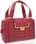 Luxury Accessories:Bags, Jimmy Choo Red Leather Cassidy Tote Bag . ...
