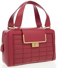 Jimmy Choo Red Leather Cassidy Tote Bag