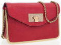 Luxury Accessories:Accessories, Chloe Red Leather Sally Shoulder Bag . ...