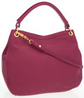 Luxury Accessories:Bags, Miu Miu Raspberry Leather Large Hobo Bag with Shoulder Strap. ...