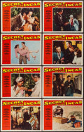 """Movie Posters:Adventure, Secret of the Incas (Paramount, 1954). Lobby Card Set of 8 (11"""" X14""""). Adventure.. ... (Total: 8 Items)"""