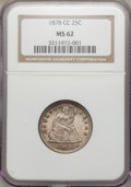 Seated Quarters, 1878-CC 25C MS62 NGC....