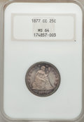 Seated Quarters, 1877-CC 25C MS64 NGC....