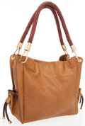Luxury Accessories:Bags, Michael Kors Brown Leather Tote Bag with Braided Handles. ...