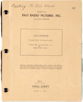 "Movie/TV Memorabilia:Documents, A John Wayne Personally-Owned Script from ""The FlyingLeathernecks.""..."