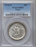 1938-D 50C Texas MS67 PCGS. PCGS Population (80/1). NGC Census: (94/3). Mintage: 3,775. Numismedia Wsl. Price for proble...