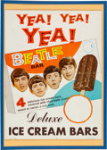 Music Memorabilia:Posters, Beatles Ice Cream Bars Vintage Promotional Display Poster (NEMS, 1965). ...