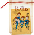 "Music Memorabilia:Memorabilia, Beatles Vintage ""Booty Bag"" Totes-All, with Blue Suits, Red Letters and Cord (Japan, circa 1964). ..."