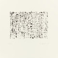 Prints:Contemporary, BRICE MARDEN (American, b. 1938). Obama Letter (from theportfolio Artists for Obama), 2012. Photogravure andetchin...