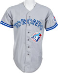 Baseball Collectibles:Uniforms, 1991 Pat Hentgen Game Worn Toronto Blue Jays Jersey. ...