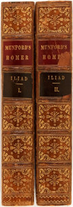 Books:Literature Pre-1900, [William Munford, Translator]. Homer. The Iliad. Boston:Charles C. Little and James Brown, 1846. First edition. Oct...(Total: 2 Items)