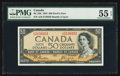 Canadian Currency: , BC-34b $50 1954 Devil's Face. ...