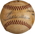 Autographs:Baseballs, Ted Williams And Ralph Kiner Dual Signed Baseball (HarridgeBaseball!)...