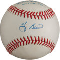 Autographs:Baseballs, Yogi Berra And Don Larsen Dual Signed Baseball With 10-8-56Inscription...