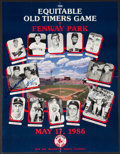 Baseball Collectibles:Others, Ted Williams, Carl Yastrzemski, And Bob Doerr Multi Signed OldTimers Day Poster....