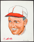 """Baseball Collectibles:Others, Rogers Hornsby """"Amadee"""" Original Drawing...."""