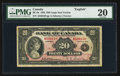 Canadian Currency: , BC-9a $20 1935. ...