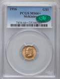 Commemorative Gold, 1916 G$1 McKinley MS66+ PCGS. CAC....