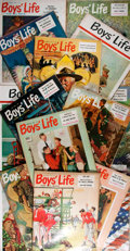 Books:Periodicals, [Norman Rockwell Covers]. Harry Harchar, editor. Boys' Life.15 Issues, 1955-1964. New Jersey: Boy Scouts of Ame... (Total: 15Items)