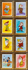 "Movie Posters:Animation, Snow White and the Seven Dwarfs (Buena Vista, R-1975). Special""Picture Frame"" Lobby Card Set of 8 (11"" X 14""). Animation.. ...(Total: 8 Items)"