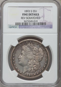 Morgan Dollars, 1893-S $1 -- Reverse Scratched -- NGC Details. Fine....
