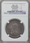 Early Half Dollars: , 1806 50C Pointed 6, Stem -- Whizzed -- NGC Details. XF. NGC Census:(124/508). PCGS Population (96/314). Mintage: 839,576. ...