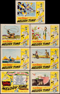 "Movie Posters:Animation, Melody Time (RKO, 1948). Title Lobby Card & Lobby Cards (6)(11"" X 14""). Animation.. ... (Total: 7 Items)"