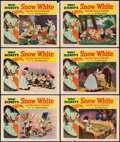 "Movie Posters:Animation, Snow White and the Seven Dwarfs (RKO, R-1951). Lobby Cards (6) (11""X 14""). Animation.. ..."