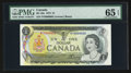 Canadian Currency: , BC-46a $1 1973 Serial Number Five. ...