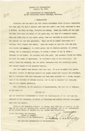 """Autographs:U.S. Presidents, Calvin Coolidge Typed Proclamation Signed """"Calvin Coolidge""""as Governor of Massachusetts, one page, 8"""" x 12.5"""". Boston, ..."""