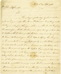 "Autographs:Statesmen, Thomas Fitzsimons and George Meade Manuscript Letter Signed""Thos FitzSimons"" and ""Geo Meade,"" two pages, 8"" x9.5"",..."