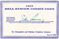 "Autographs:U.S. Presidents, John F. Kennedy's Signed Telephone Credit Card, 3.5"" x 2.25"", forthe year 1959. Issued by the Chesapeake and Potomac Teleph...(Total: 1 Item)"