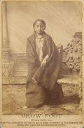 Photography:Cabinet Photos, CROW FOOT (SITTING BULL'S SON) CABINET CARD ca.1880s Crow Foot(1876 -1890) was the son of Sitting Bull of the Lakota. He pa...(Total: 1 Item)