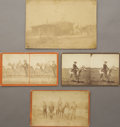 Photography:Stereo Cards, COWBOY AND SETTLER CABINET AND STEREOVIEW CARDS ca 1870-1880. This four-item lot contains two stereocards of an unnamed cowb... (Total: 1 Item)