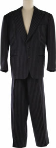 "Movie/TV Memorabilia:Costumes, ""Pat and Mike"" Spencer Tracy Worn Suit. This fitted, gray pin-stripe suit was worn by actor Spencer Tracy in the romantic co... (Total: 1 Item)"