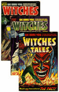 Golden Age (1938-1955):Horror, Witches Tales #19, 23, and 27 Group (Harvey, 1953-54) Condition:Average FN/VF.... (Total: 3 Comic Books)
