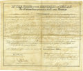 """Autographs:Statesmen, Republic of Texas President Sam Houston Document Signed, one page with verso docketing, partially printed on vellum, 14.75"""" ... (Total: 1 Item)"""
